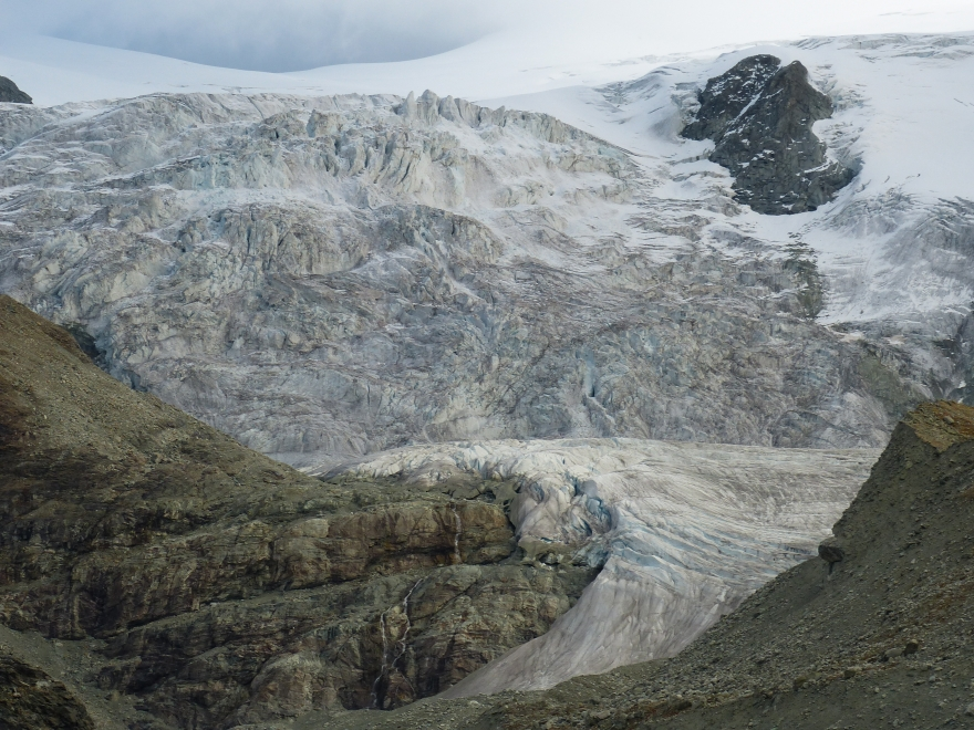 Glacier of Moiry in autumn Val d'Anniviers